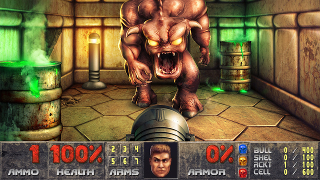 Crazy Guy Remasters 320x240 Doom Screenshot Into a 9,600x7,211-Pixel Photoshop Image