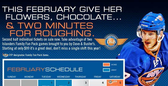 Poorly Worded Islanders Ad Seems To Want You To Hit Your Ladyfriend