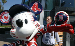 Mickey Mouse Assaulted For Supporting The Boston Red Sox
