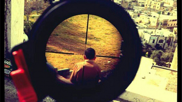 Israeli Lunatic Sniper Instagrams a Photo of a Child in His Crosshairs