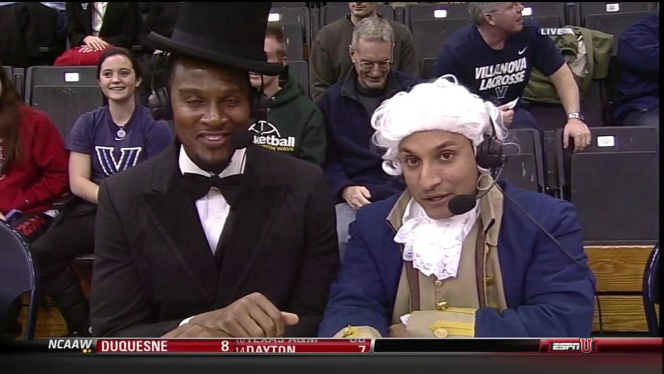 ESPN Announcers Dress As Abraham Lincoln, George Washington, And Ben Franklin To Celebrate President's Day. Wait, Ben Franklin?