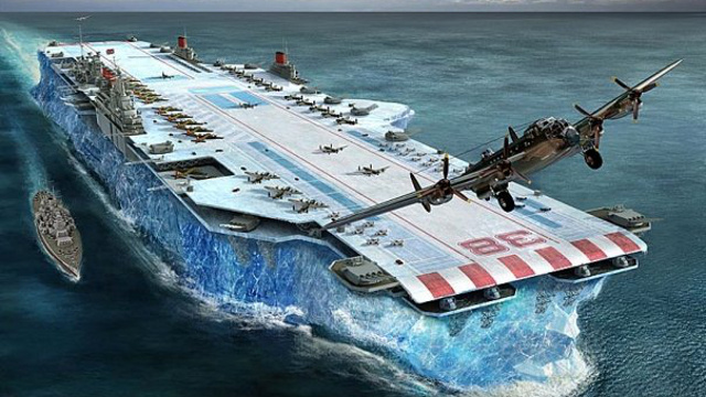 Winston Churchill's plan to fight Nazis with massive aircraft carriers made from ice