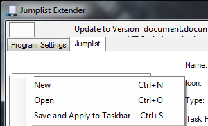 Jumplist Extender Lets You Customize Jumplist Entries in Windows 7's Taskbar