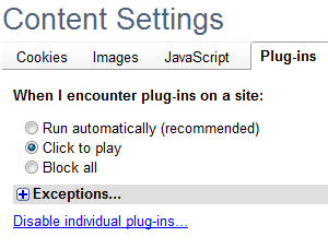 Disable or Restrict Plug-Ins in Chrome to Prevent Malware Installs