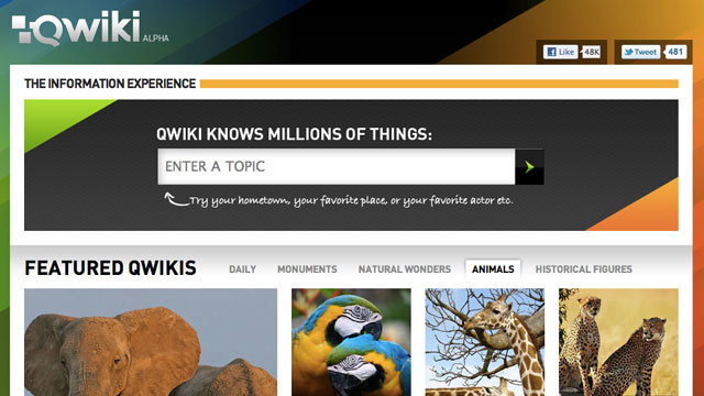 Qwiki Is Like a Mini, Visually-Rich Wikipedia That Reads to You