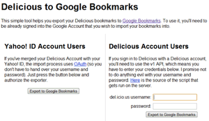 How to Import Your Delicious Bookmarks into Google Bookmarks in One Easy Step