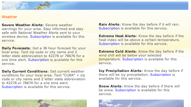 Weather.com SMS Alerts Give You the Jump on Snow or Rain