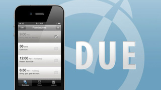 Due Is a Simple and Quick Reminder App for Your iPhone