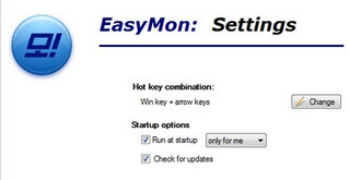 EasyMon Moves Applications Between Monitors in Windows
