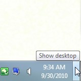 Show Desktop Adds the Show Desktop Button to Windows Vista and XP