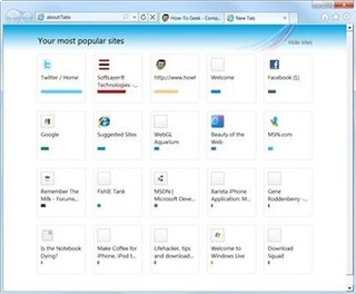How to Show More Sites On the Internet Explorer 9 New Tab Page