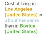 Expatistan Compares Cost of Living Between Two Cities