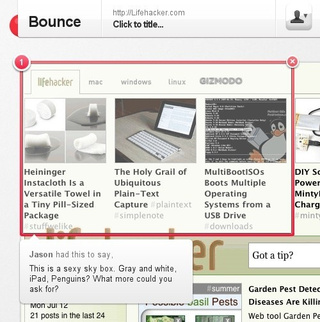 Bounce Snaps Web Site Screenshots and Shares Simple Notes