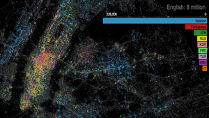 medium A Shimmering, Tweet Based Langauge Map of NYC