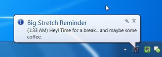 Big Stretch Reminder Prompts You to Get Off the PC Once in a While