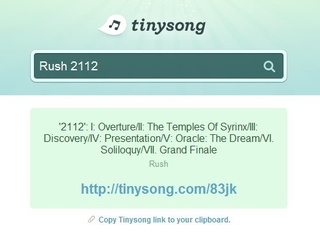 Tinysong Combines URL Shortening and Music Sharing