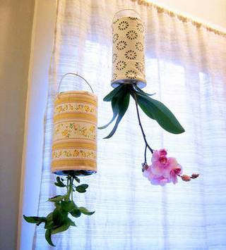 Recycle Old Containers into Upside-Down Hanging Planters