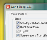 Don't Sleep Temporarily Delays Windows Power Saving Modes