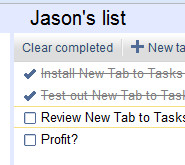 New Tab to Tasks Puts Your Google Tasks in Front of You