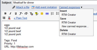 Use Gmail Canned Responses to Automate Remember the Milk Tasks