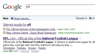 Google Replaces SearchWiki with Stars for Customized Search