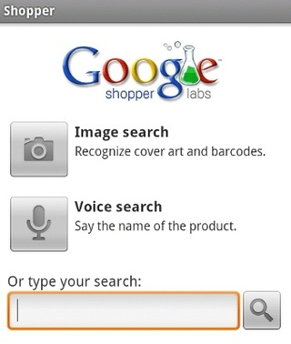 Google Shopper Prices Products by Image, Bar-Code, or Voice Search