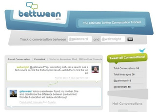 Bettween Displays Twitter Conversations in an Easily Read Format
