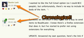How to Sort Lifehacker Comments Chronologically
