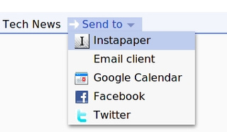 "More Google Reader ""Send To"" Tricks"