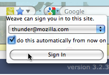 Mozilla Weave to Integrate Auto-Login with Firefox