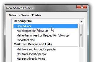 Triage Your Email Inbox with Outlook Search Folders