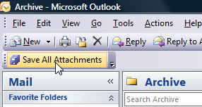 SaveAllAttachments Archives and Deletes Outlook File Attachments