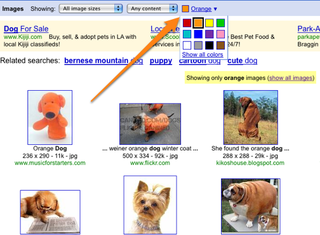 Google Image Search Completely Integrates Search-by-Color