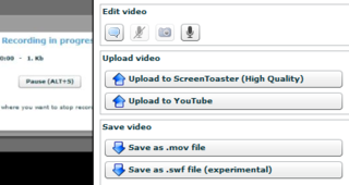 ScreenToaster Updates with HD YouTube Uploads, QuickTime Downloads