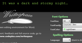 WriteSpace Turns Word Into a Distraction-Free Editor