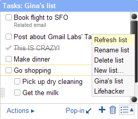 Gmail Labs' New Task Manager Can Add Email to Your To-Do List