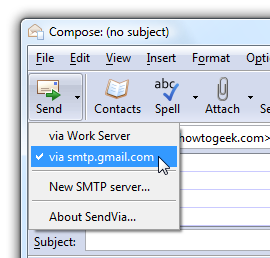 SendVia Changes SMTP Servers On the Fly