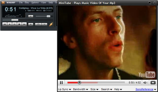 MiniTube Adds Music Videos to Winamp