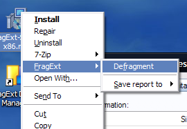 FragExt Defrags Individual Files