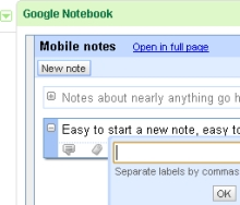 Use the New iGoogle as a Universal Scratch Pad