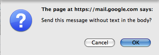 Skip Gmail's Body-less Message Prompt Using (EOM)