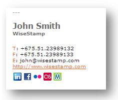 WiseStamp Adds HTML Signatures to Your Webmail Service