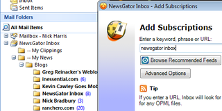 NewsGator Inbox Integrates RSS with Outlook