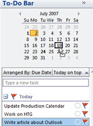 Create Quick Appointments with Outlook 2007