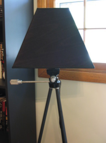 Turn a Tripod into a Floor Lamp