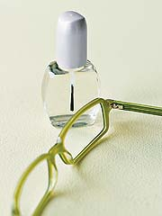Fix your glasses with clear nail polish