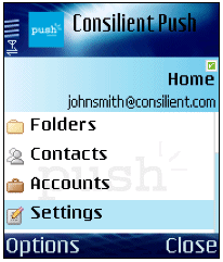 Push e-mail to your phone with Consilient