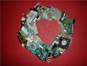Weekend Project: Make a holiday wreath from old computer parts