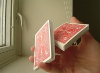 Shuffle and cut a deck of cards one-handed