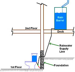 Collect rainwater for toilet water